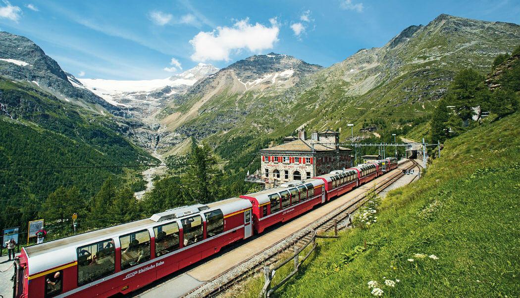 на поезде через Альпы